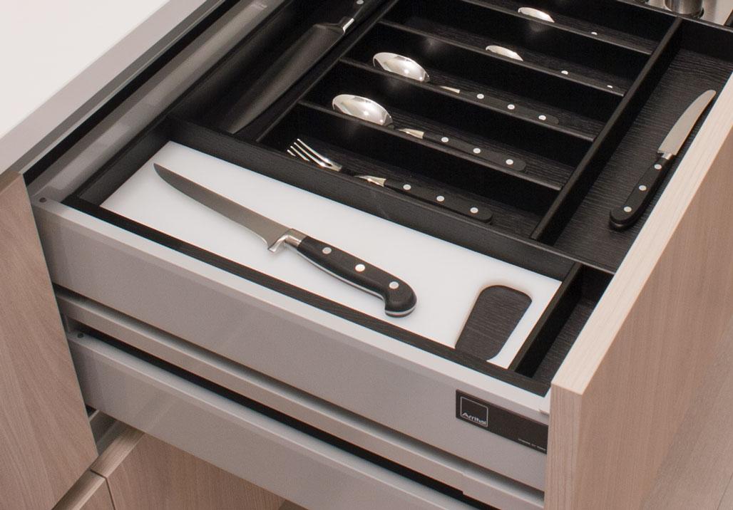 Portaposate legno per cassetti accessori cassetti cucina - Portaposate per cassetti ...