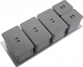 SINK-DRAWER - PATTUMIERA BIO BASIC CON COPERCHI CLASSIC - BASE 120 - GI12AAABMCAV