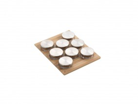 GOURMET-LINE - SPICE-RACK WITH GLASS JARS - BASE 45 - GR45VX