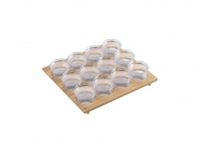 GOURMET-LINE - SPICE-RACK WITH PLASTIC JARS - BASE 60 - GR6007