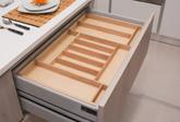 Portaposate Easy-line con fondo legno