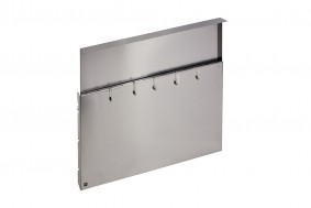 WORK-STATION - STAINLESS STEEL WALL WITH HOOKS - BASE 60 - WS06000XUN