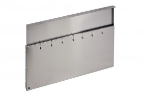 WORK-STATION - STAINLESS STEEL WALL WITH HOOKS - BASE 90 - WS09000XUN