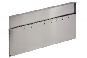 WORK-STATION - STAINLESS STEEL WALL WITH HOOKS - BASE 120 - WS12000XUN