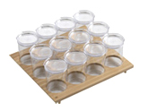 Portapasta con barattoli in plastica Gourmet-Line