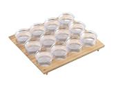 Portaspezie con barattoli in plastica Gourmet-Line
