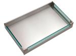 Cassetti interni inox H105 Work-station con inserti vetro