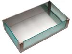 Cassetti interni inox H217 Work-station con inserti vetro