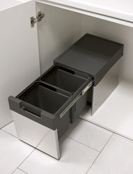 Pattumiera EASY - inox Sink-door