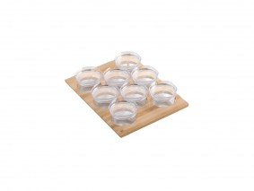 GOURMET-LINE - SPICE-RACK WITH PLASTIC JARS - BASE 45 - GR4507