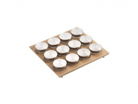 GOURMET-LINE - SPICE-RACK WITH GLASS JARS - BASE 60 - GR60VX