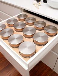 Portaspezie con barattoli in vetro Gourmet-Line