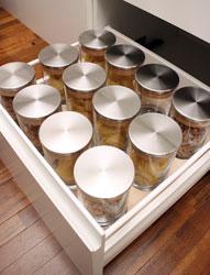 Portapasta con barattoli in vetro Gourmet-Line