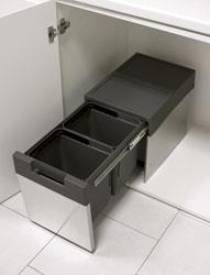 Pattumiera EASY - inox Sink-door